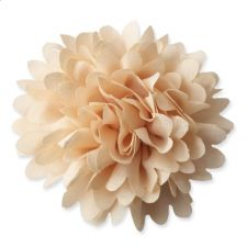 8cm Chrysanthemum LATTE Fabric Flower Applique